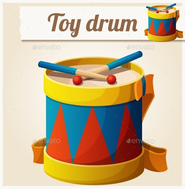 GraphicRiver Vintage Toy Drum 10785844