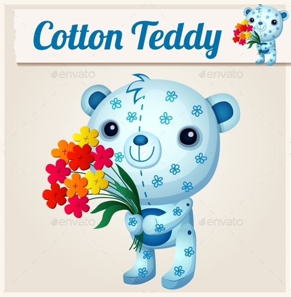 GraphicRiver Blue Cotton Teddy Bear 10785852