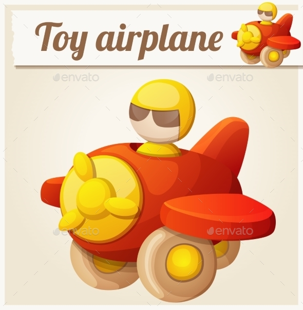 GraphicRiver Red Toy Airplane 10785853