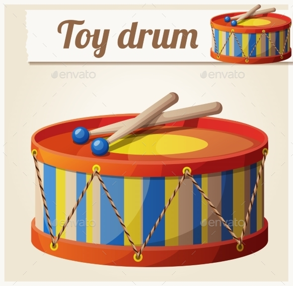 GraphicRiver Vintage Toy Drum 2 10785854