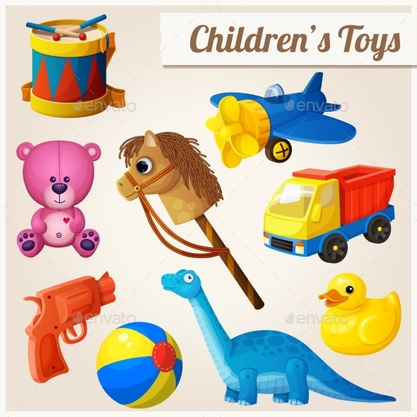 GraphicRiver Set of Kid s Toys 10785858