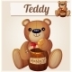 Teddy Bear and the Barrel of Honey - GraphicRiver Item for Sale