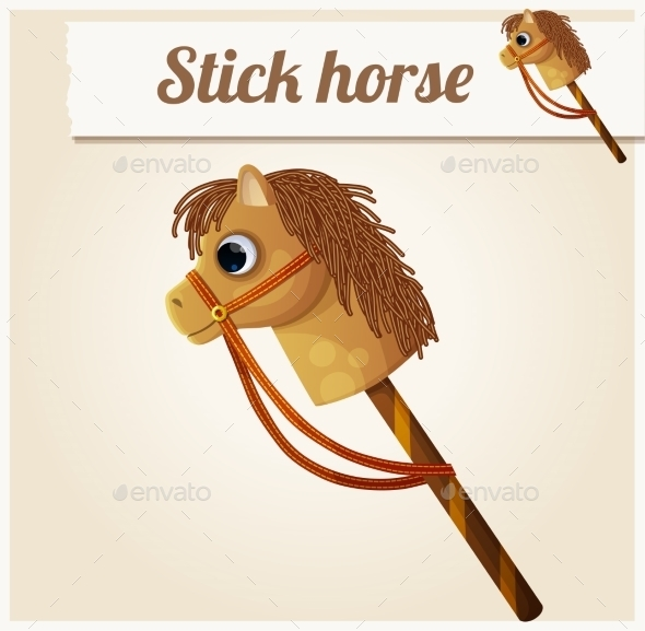 GraphicRiver Stick Horse Toy 10785905