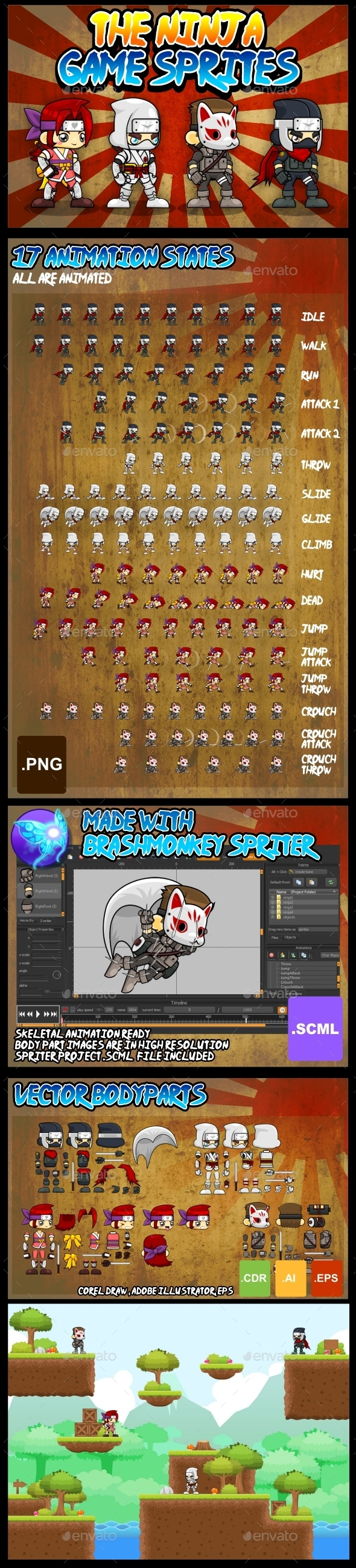 GraphicRiver The Ninja Game Sprites 10786047