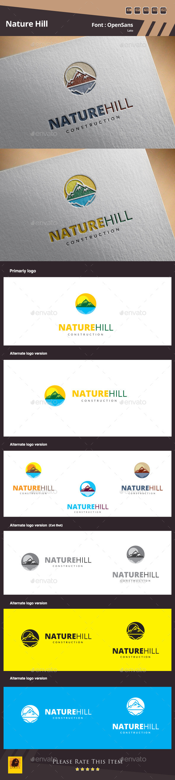 GraphicRiver Nature Hill Logo Template 10786048