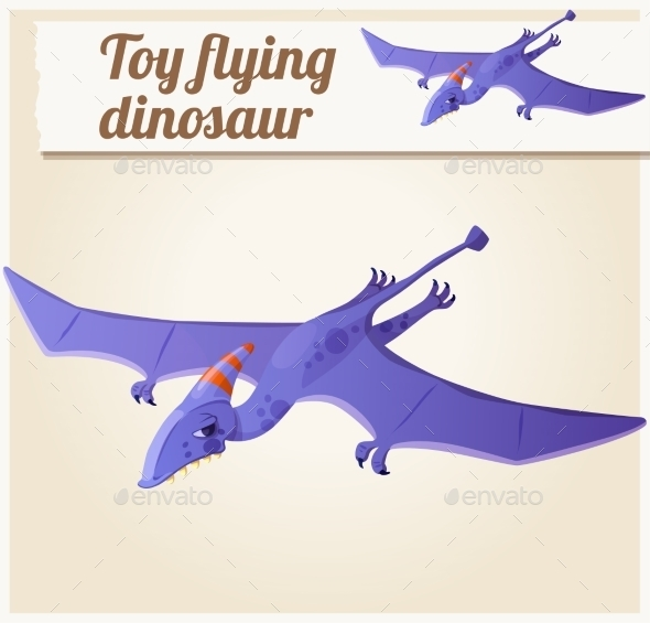GraphicRiver Toy Flying Dinosaur 10786060