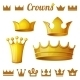 Set 2 of Royal Gold Crowns
