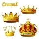 Set 3 of Royal Gold Crowns