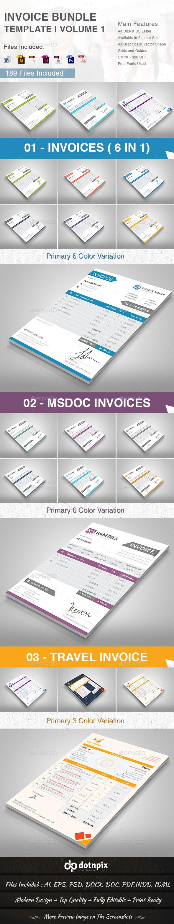 GraphicRiver Invoice Bundle Template Volume 1 10786146