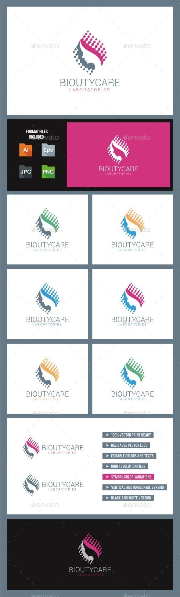 GraphicRiver Bio Beauty Care Logo 10786244