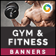 Gym and Fitness Banners - GraphicRiver Item for Sale