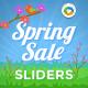 Spring Sale Sliders - 3 Designs - GraphicRiver Item for Sale