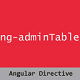 Angular Admin Table Directive - CodeCanyon Item for Sale