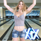 Young Woman Playing Bowling - VideoHive Item for Sale