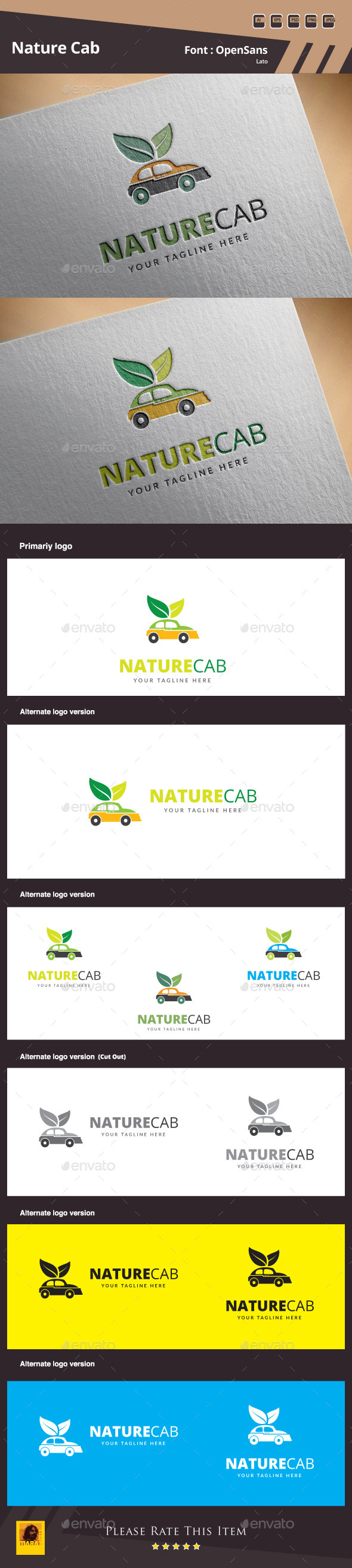 GraphicRiver Nature Cab Logo Template 10787346