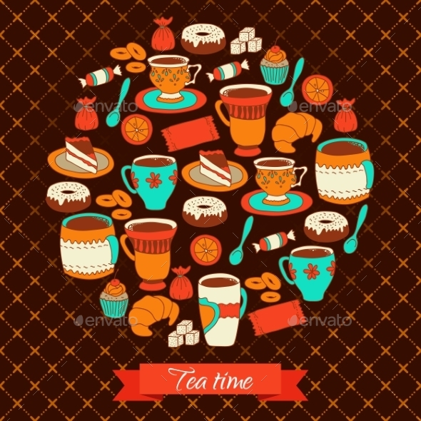 GraphicRiver Round Tea and Coffee Greeting 10787366
