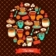 Round Tea and Coffee Greeting - GraphicRiver Item for Sale