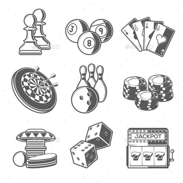 GraphicRiver Casino Sport and Leisure Games Icons 10787450