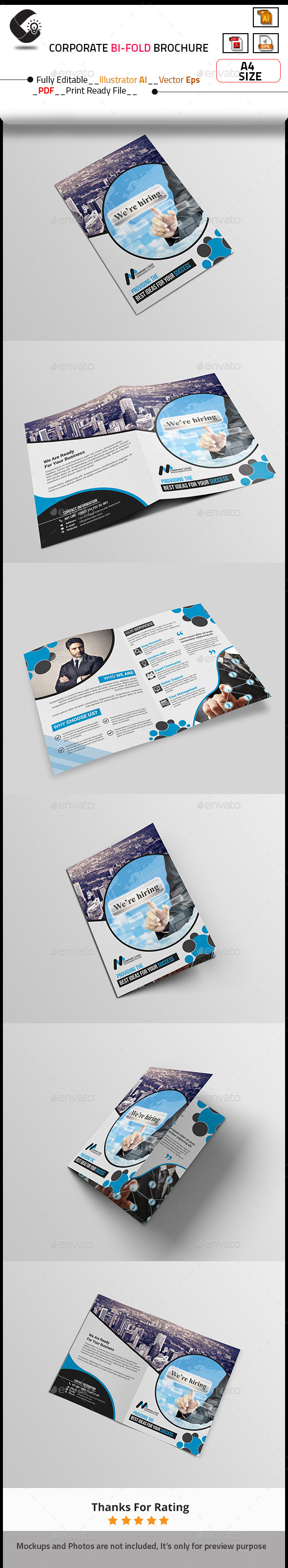 GraphicRiver Corporate Bi-Fold Brochure 10787452