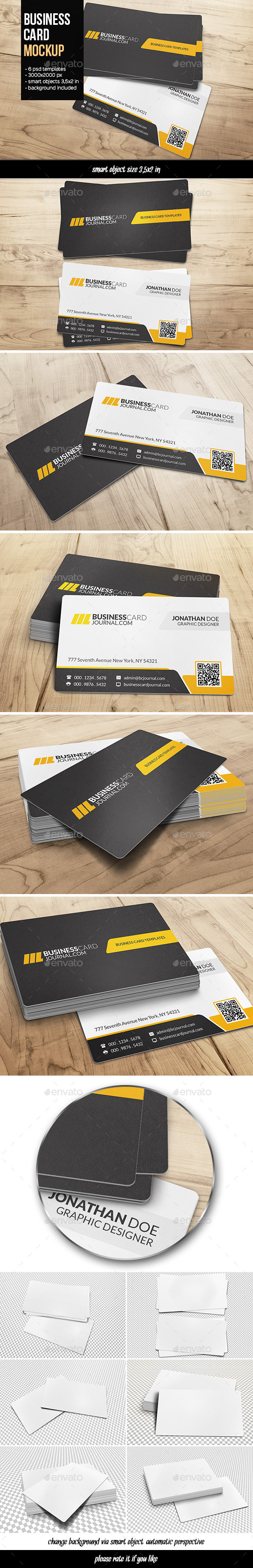 GraphicRiver Business Card Mockup 10787480