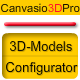 Canvasio3DPro - 3D-Model Configurator - CodeCanyon Item for Sale