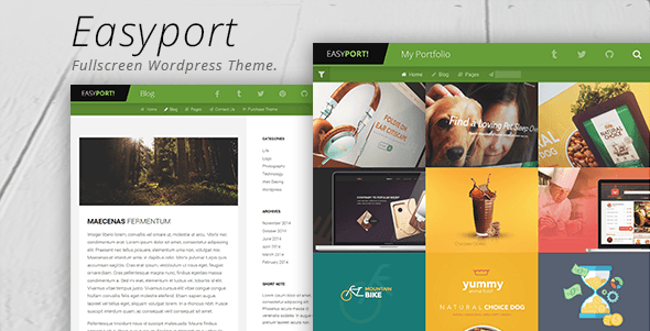 Easyport - Fullscreen Portfolio Theme