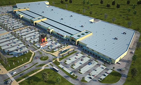 3DOcean Mall M1 Full Textured Scene Render Ready 10787564
