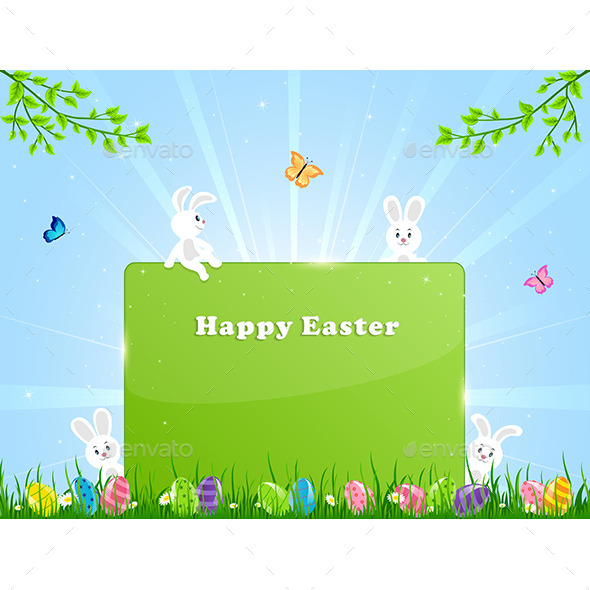 GraphicRiver Easter Rabbits 10787630