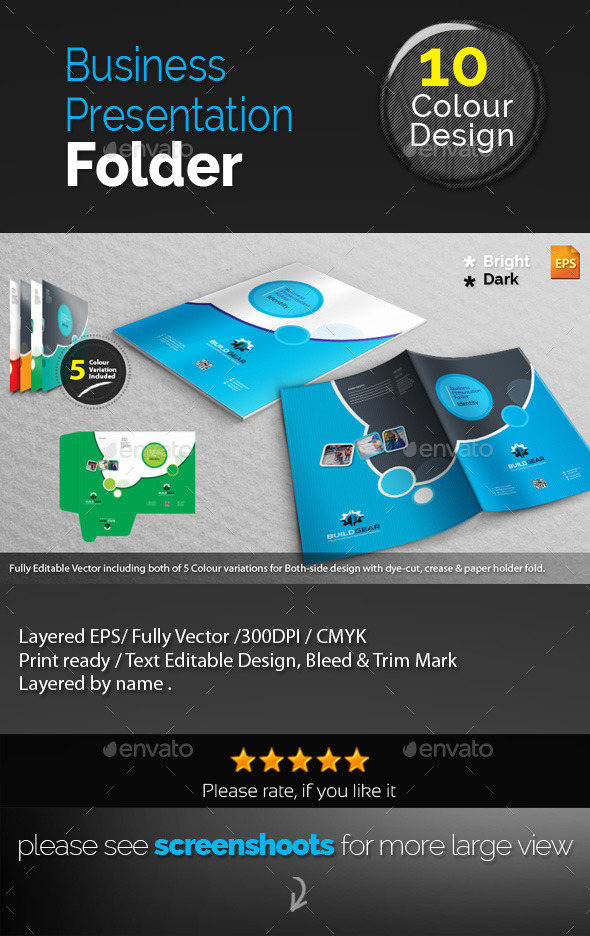 GraphicRiver Corporate Presentation Folder 10787639