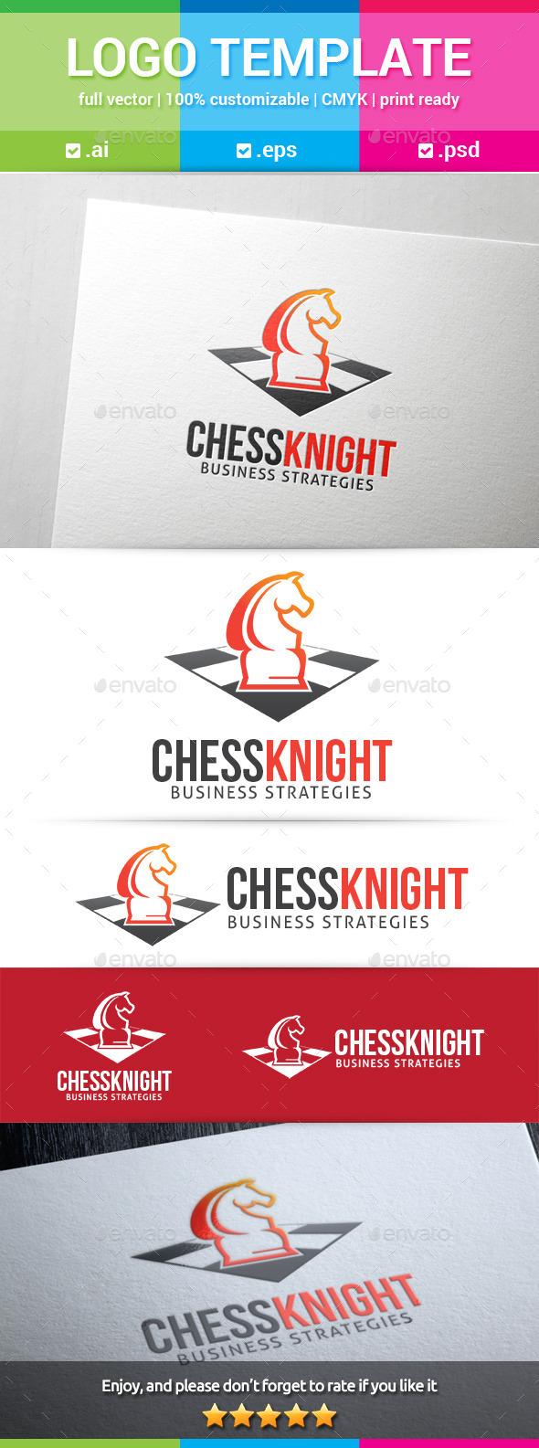 GraphicRiver Chess Knight Logo 10787652