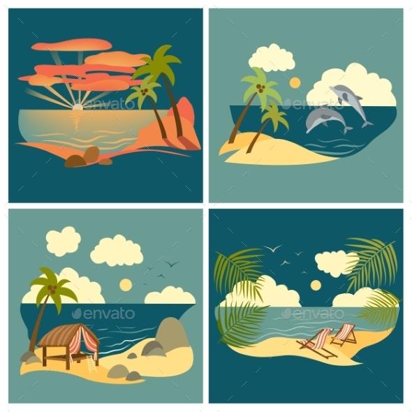 GraphicRiver Sea Landscape Icons 10787667