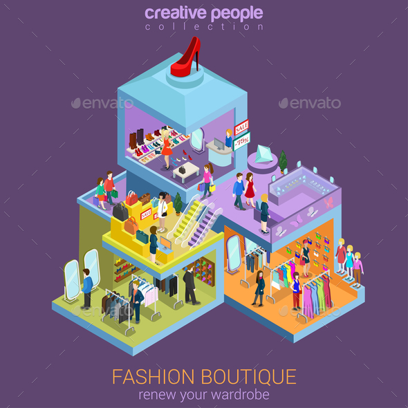 GraphicRiver Fashion Boutique Isometric 10787694