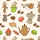 Seamless Pattern with Coffee - GraphicRiver Item for Sale