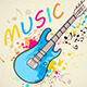 Background with Electric Guitar - GraphicRiver Item for Sale