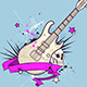 Background with Electric Guitar and Skull - GraphicRiver Item for Sale