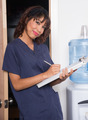 Health Care Worker Takes Medical Notes Nursing Intern Clipboard - PhotoDune Item for Sale