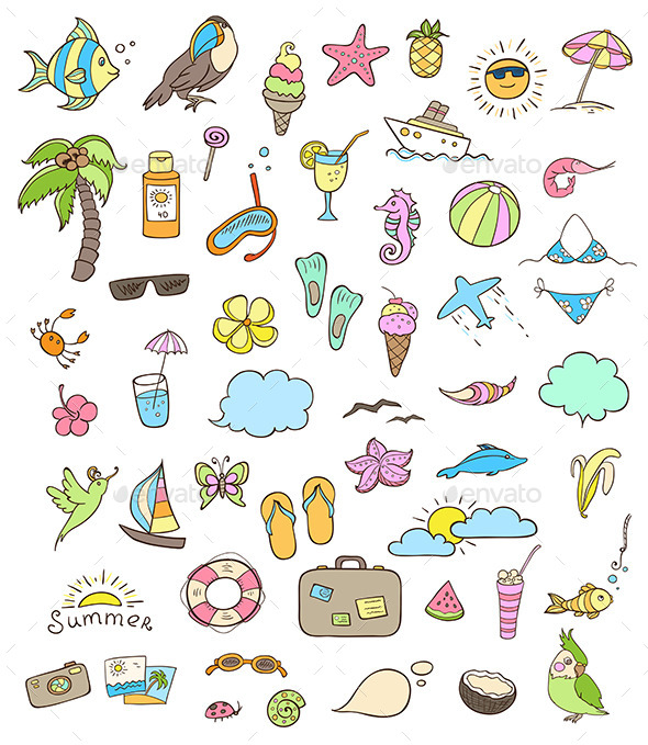 GraphicRiver Summer Icons 10788163