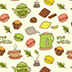 Seamless Pattern with Teapot and Cakes - GraphicRiver Item for Sale