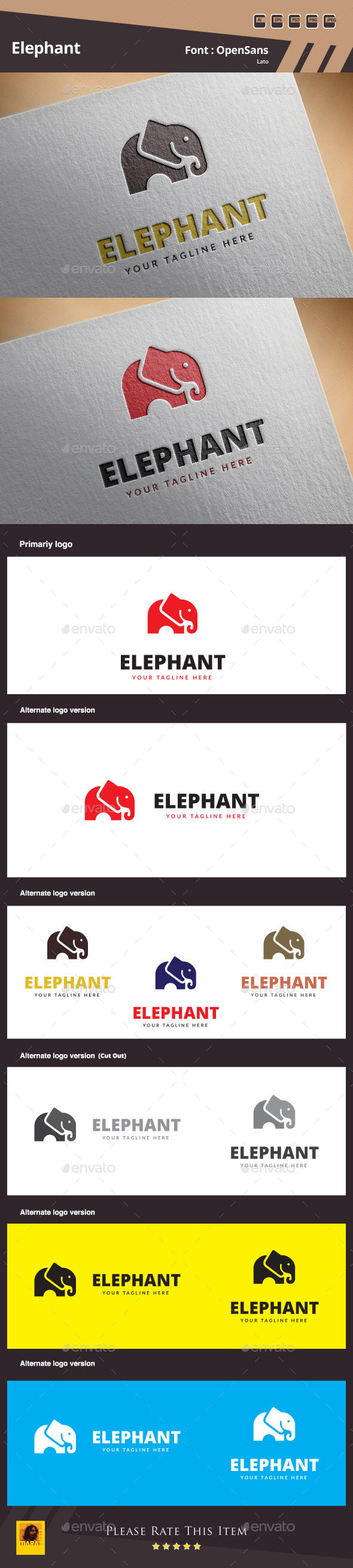GraphicRiver Elephant Logo Template 10788318