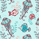 Seamless Pattern with Jellyfish and Fish - GraphicRiver Item for Sale