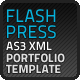 Flash Press Portfolio AS3 XML Website Template - ActiveDen Item for Sale