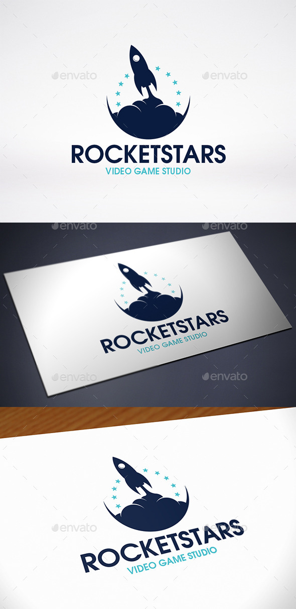 GraphicRiver Rocket Stars Logo Template 10788363