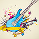 Background with Electric Guitar and Trumpet - GraphicRiver Item for Sale