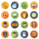 SEO Colorful Circle Icons - GraphicRiver Item for Sale