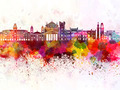 Trieste skyline in watercolor background - PhotoDune Item for Sale