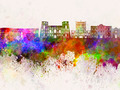 Tarento skyline in watercolor background - PhotoDune Item for Sale