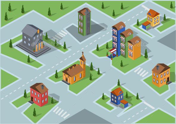 GraphicRiver Buildings Set 10789016