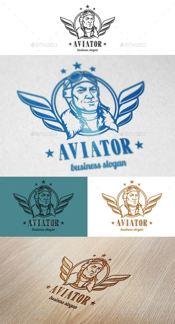 GraphicRiver Aviator Logo 10789028
