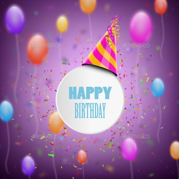 GraphicRiver Happy Birthday Composition 10789032