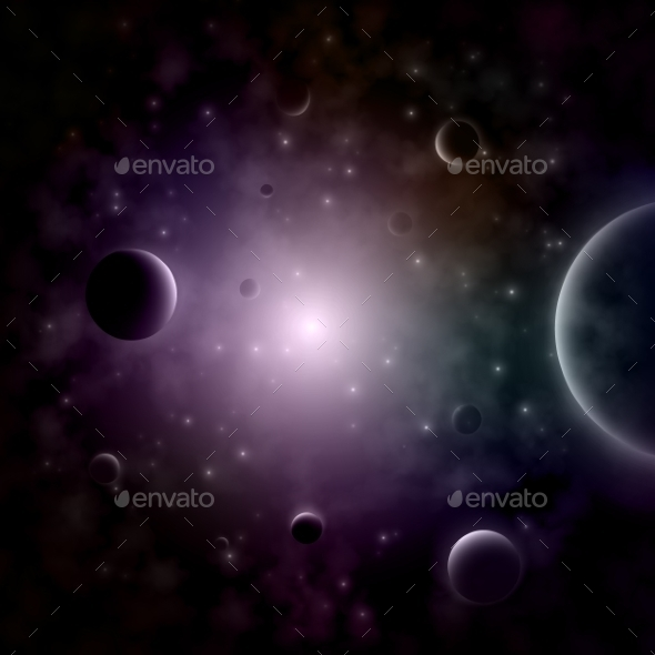 GraphicRiver Exploding Star In the Space 10789036